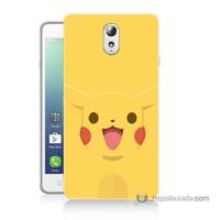 Teknomeg Lenovo Vibe P1m Kapak Kılıf Pokemon Pikachu Baskılı Silikon