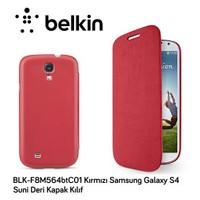 Belkin Blk-F8m564btc01 Kırmızı Samsung Galaxy S4 Suni Deri Ka Kılıf