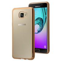 Microsonic Samsung Galaxy A7 2016 Kılıf Flexi Delux Gold