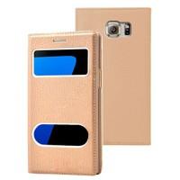 Microsonic Samsung Galaxy S7 Edge Kılıf Gizli Mıknatıslı View Delux Gold