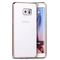 Microsonic Samsung Galaxy S6 Edge Kılıf Flexi Delux Gold