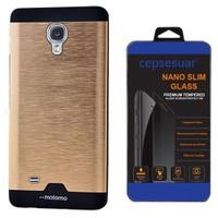 Cepsesuar Samsung Galaxy S4 Kılıf Motomo Gold + Cam