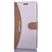 CoverZone Asus Zenfone 2 Laser Ze550kl 5.5 İnch Kılıf Kart Gözlü Kapaklı
