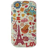Coverzone Samsung Galaxy Ace 4 Kılıf Resimli Kapaklı Paris Eyfel Kulesi