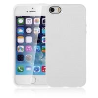 Microsonic Dot Style Silikon İphone 5S Kılıf Beyaz
