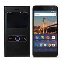 Case 4U General Mobile 4G Android One Mıknatıslı Pencereli Flip Cover Siyah*