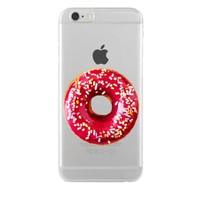 Remeto Samsung Galaxy Note 2 Transparan Silikon Resimli Donut