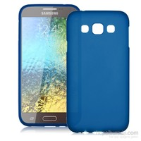 Case 4U Samsung Galaxy E7 Soft Silikon Kılıf Mavi