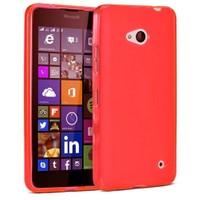 Case 4U Microsoft Lumia 640 Soft Silikon Kılıf Kırmızı