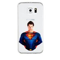 Remeto Samsung Galaxy E5 Transparan Silikon Resimli Superman