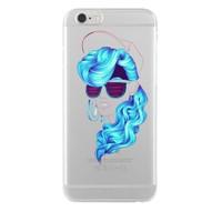 Remeto Samsung Galaxy E7 Mavi Bukleli Model Transparan Silikon Resimli Kılıf