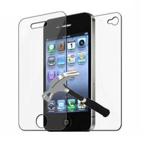 Microcase Apple İphone 4-4S Ön Arka Takım Tempered Glass Cam Koruma