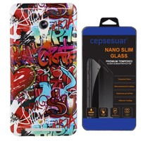 Cepsesuar Asus Zenfone 6 Kılıf Silikon Resimli Grafiti + Cam