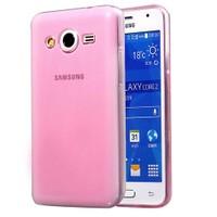 Case 4U Samsung Galaxy Core 2 Ultra İnce Silikon Kılıf Pembe