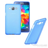 Case 4U Samsung Galaxy Grand Prime Ultra İnce Mavi Silikon Kılıf