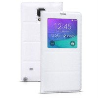 Case 4U Samsung Galaxy Note 4 Kılıf Pencereli Flip Cover Beyaz