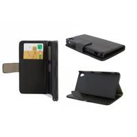 Microsonic Cüzdanlı Standlı Deri Kılıf - Sony Xperia Z1 L39h Siyah
