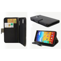 Microsonic Cüzdanlı Standlı Deri Kılıf - Samsung Galaxy Note3 N9000 Siyah