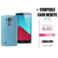 Coverzone Lg G4 Beat Silikon Kılıf + Temperli Cam