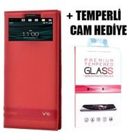 Coverzone Lg V10 Lüx Pencereli Kılıf + Temperli Cam