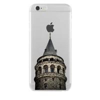 Remeto iPhone 6/6S Şeffaf Transparan Silikon Resimli Galata Kulesi