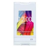 Teleplus Sony Xperia Z5 Mıknatıslı Pencereli Kılıf Beyaz