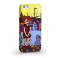 Biggdesign Çiçekli Kız Apple iPhone 5/5S Kapak