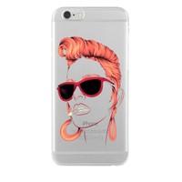 Remeto Samsung Galaxy J5 Kızıl Rock'n Roll Kızı Transparan Silikon Resimli Kılıf