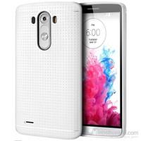 Case 4U LG G3 Dot Style Silikon Kılıf Beyaz