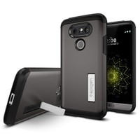 Spigen LG G5 Kılıf Tough Armor Gun Metal - A18CS20137