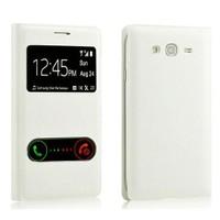 Case 4U Samsung Galaxy Core 2 Pencereli Flip Cover Beyaz