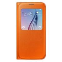 Samsung Galaxy S6 S View Cover Fabric Turuncu Kılıf - EF-CG920POEGWW
