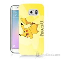 Teknomeg Samsung Galaxy S6 Edge Plus Kapak Kılıf Pokemon Pikachu Baskılı Silikon