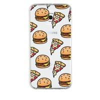 Remeto Samsung Galaxy Note 3 Transparan Silikon Resimli Hamburger Pizza