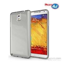 Case 4U Samsung Galaxy Note 4 Şeffaf Kapak (Füme)