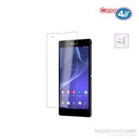 Case 4U Sony Xperia T2 Ultra Şeffaf Ekran Koruyucu (Parmak izi bırakmaz)