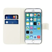 Microsonic Cüzdanlı Deri İphone 6S Plus Kılıf Beyaz