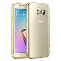 Microsonic Samsung Galaxy S6 Edge+ Plus Kılıf Ultra Thin Metal Bumper Gold