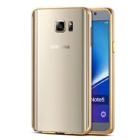 Microsonic Samsung Galaxy Note 5 Kılıf Ultra Thin Metal Bumper Gold