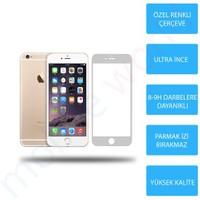 Mobile World iPhone 6 Renkli Cam Ekran Koruyucu Gümüş - 2564
