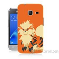 Teknomeg Samsung Galaxy J1 Kapak Kılıf Pokemon Arcanine Baskılı Silikon
