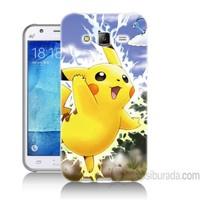 Teknomeg Samsung Galaxy J5 Kapak Kılıf Pokemon Pikachu Baskılı Silikon