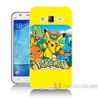 Teknomeg Samsung Galaxy J5 Kapak Kılıf Pokemon Baskılı Silikon