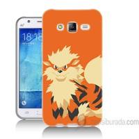 Teknomeg Samsung Galaxy J7 Kapak Kılıf Pokemon Arcanine Baskılı Silikon