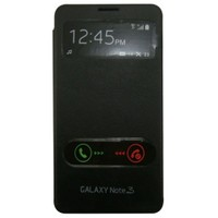 Teleplus Galaxy Note 3 Siyah Pencereli Uyku Modlu Kılıf