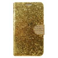 Teleplus Samsung Galaxy Note 3 Altın Sarısı Özel Pullu Kapaklı Kılıf