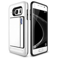 Teleplus Samsung Galaxy S7 Edge Çift Koruma Cüzdanlı Kapak Kılıf Beyaz
