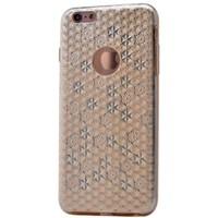 Teleplus İphone 6 Plus Desenli Silikon Kılıf Gold