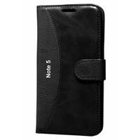 Cep Market Samsung Galaxy Note 5 Kılıf Standlı Cüzdan (Siyah)