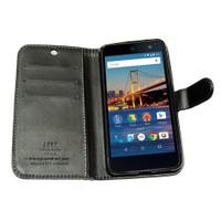 Kılıfshop General Mobile Android One 4G Kartlıklı Cüzdan Kılıf (Siyah)